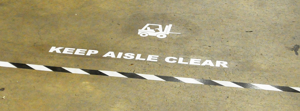 Keep Aisle Clear Lean Floor