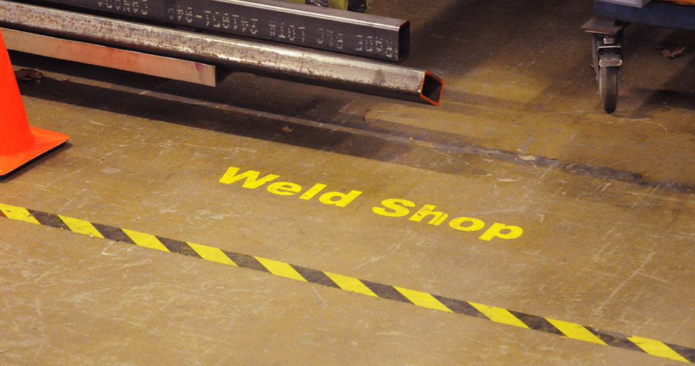 VIBCO Visual Floor Caution Weld Area
