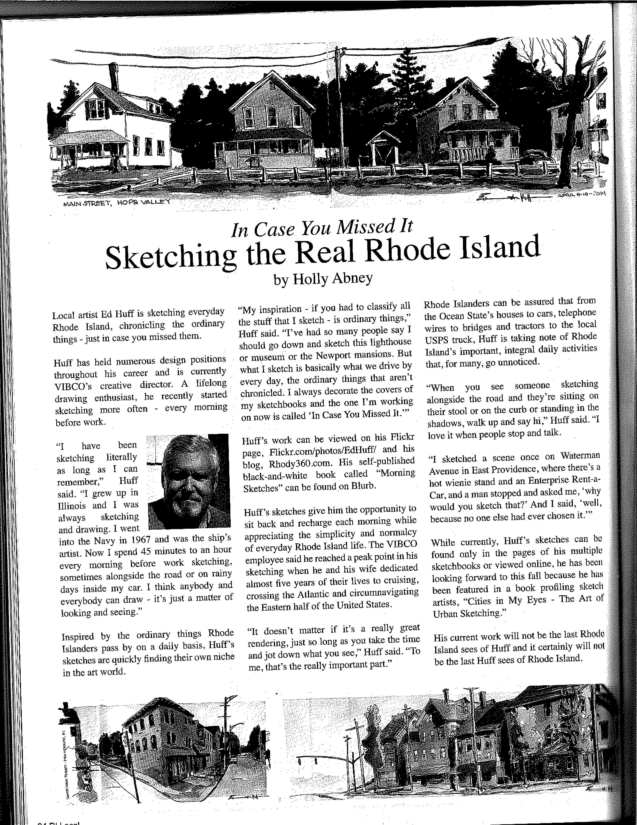 ed huff in rhode island local magazine