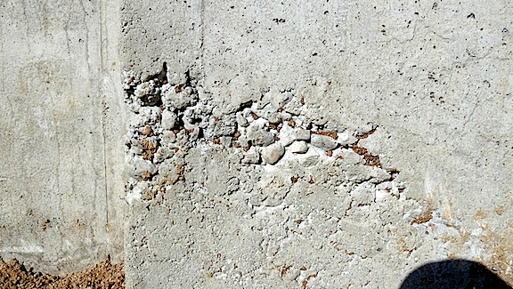 poorly consolidated concrete