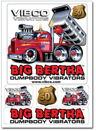Vibco Big Bertha Sticker Set
