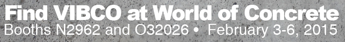 find vibco at world of concrete banner top of concrete vibrator page