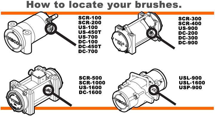 How to locate vibrator brushes