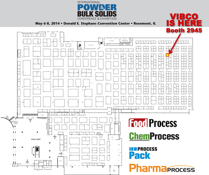 Map to VIBCO Booth at PTXi #2945